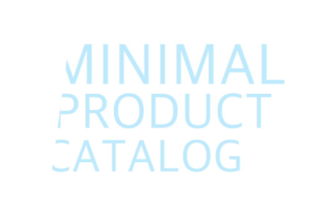 Minimal product catalog download
